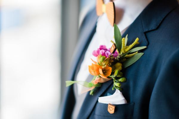 Hochzeit Holzfliege Manschettenknöpfe